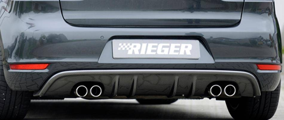 Rieger Diffusore post Golf 6+GTD no GTI carbonlook marm.doppiaduplex